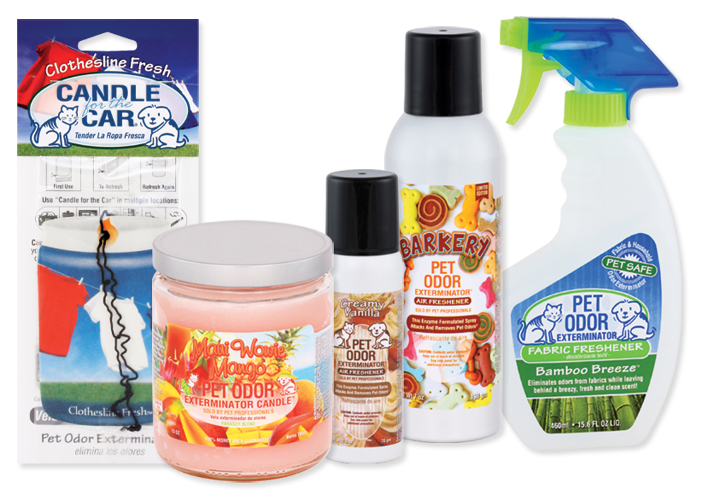 Pet Odor Exterminator products lineup