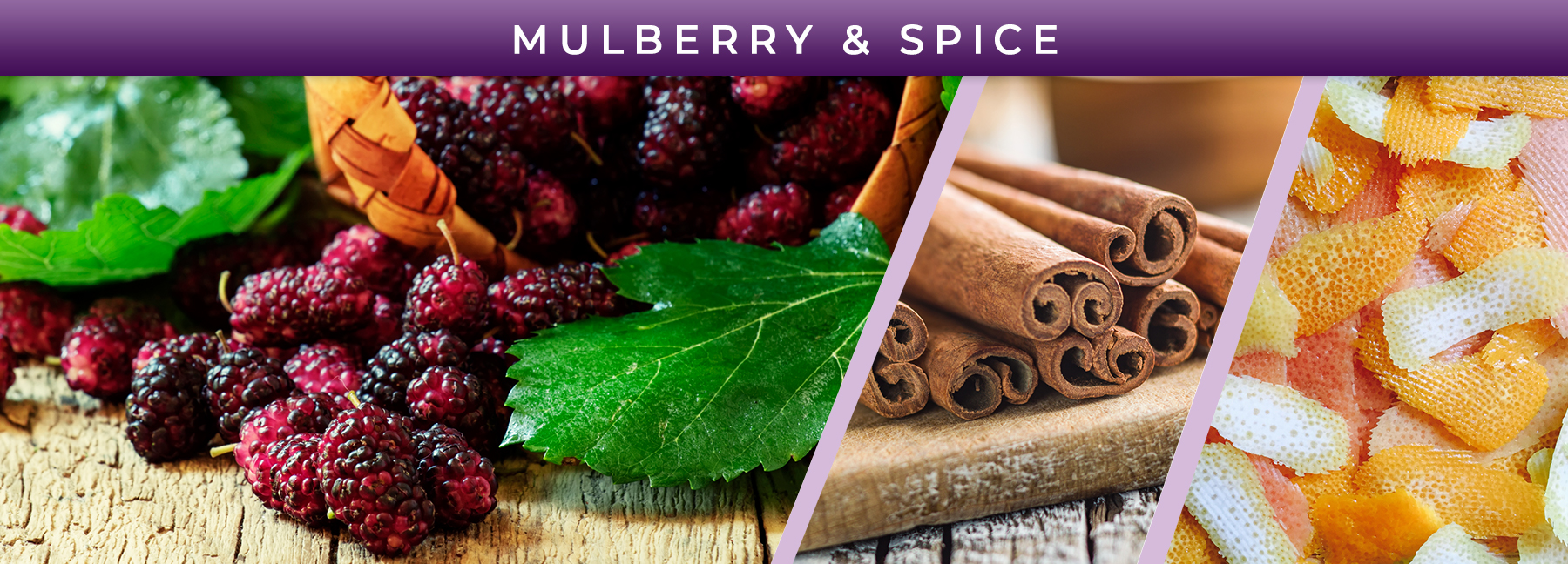 Mulberry and Spice fragrance elements