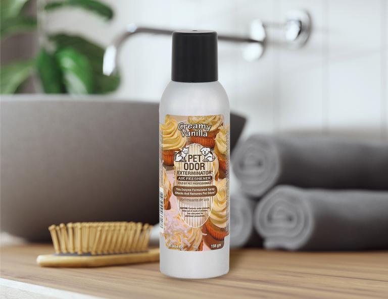 Creamy Vanilla 7oz Spray in bathroom