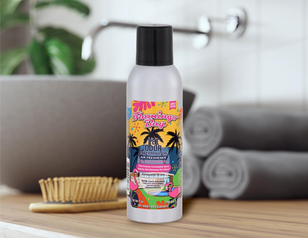 Flamingo Bay 7oz Spray in bathroom