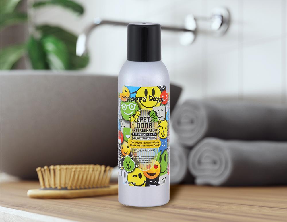 Happy Days 7oz Spray in bathroom