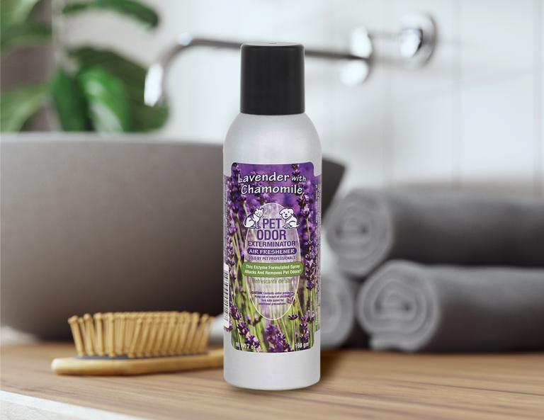 Lavender with Chamomile 7oz Spray in bathroom