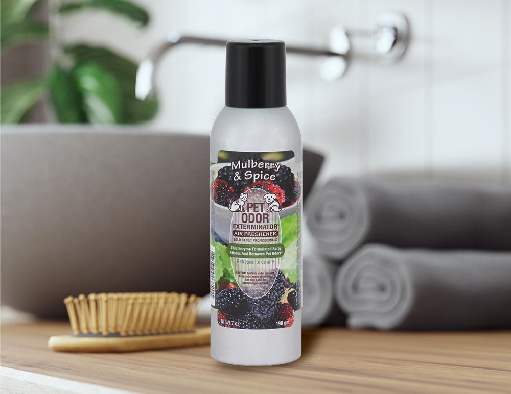 Mulberry & Spice 7oz Spray in bathroom