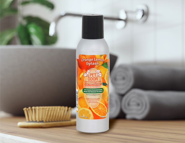 Orange Lemon Splash 7oz Spray in bathroom