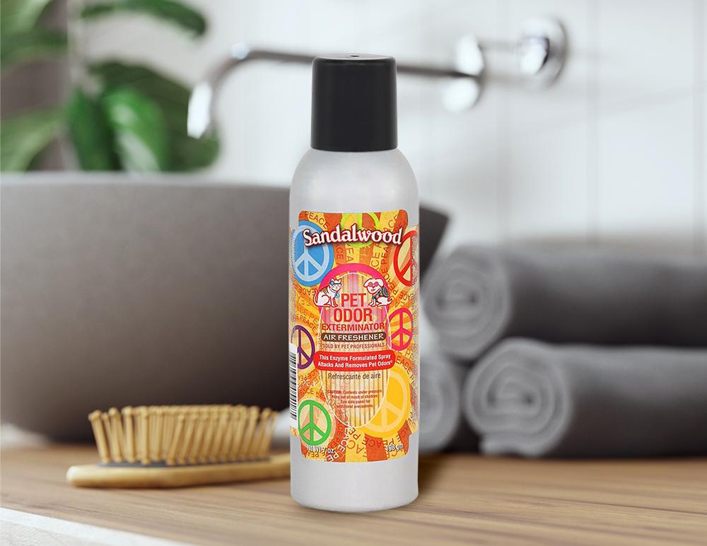 Sandalwood 7oz Spray in bathroom