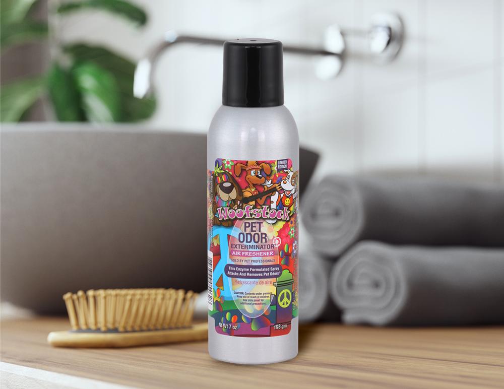 Woofstock 7oz Spray in bathroom