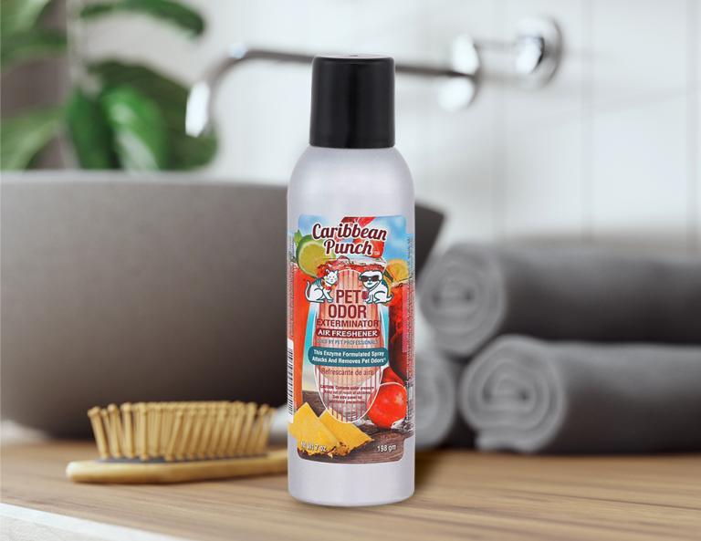 Caribbean Punch 7oz Spray in bathroom